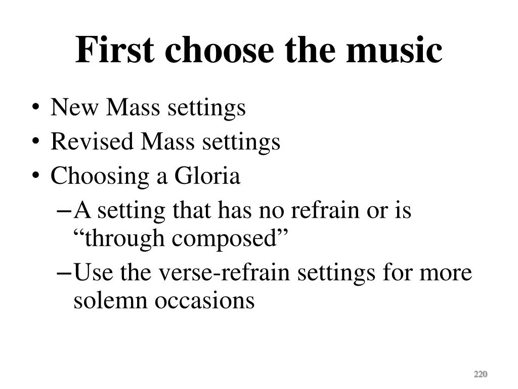 First choose the music