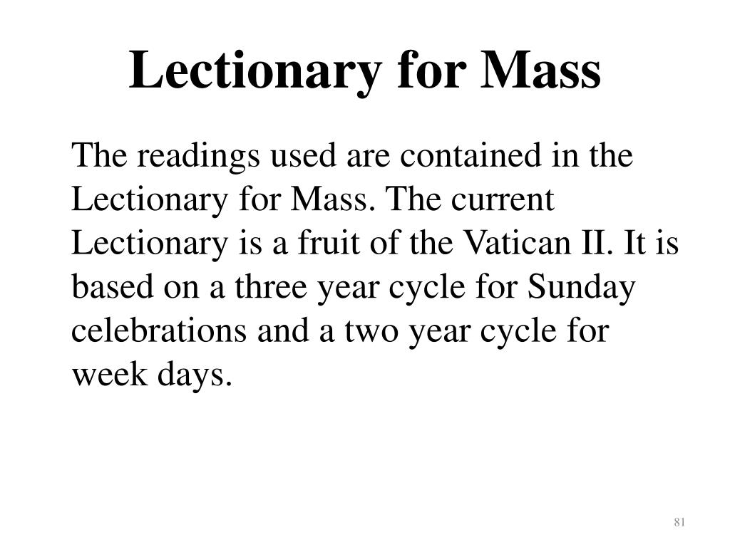 Lectionary for Mass