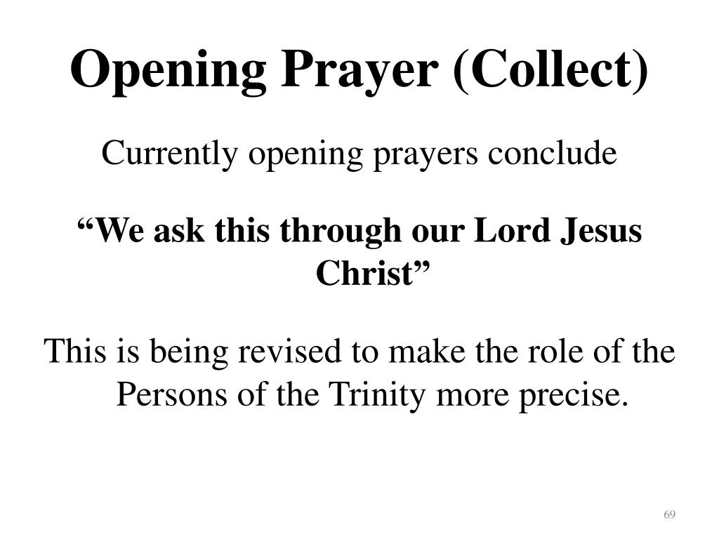 Opening Prayer (Collect)