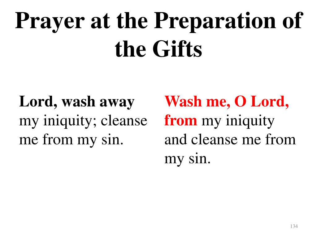 Prayer at the Preparation of the Gifts