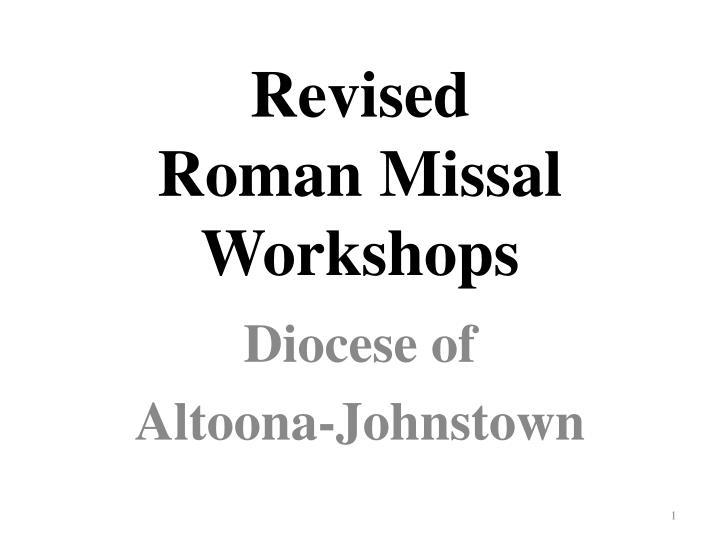 revised roman missal workshops n.