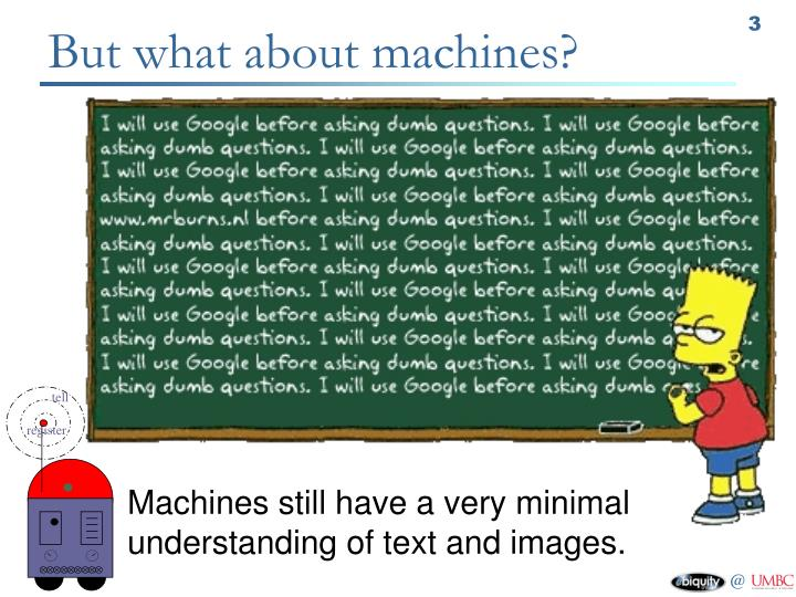 But what about machines