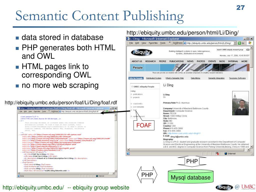 Semantic Content Publishing