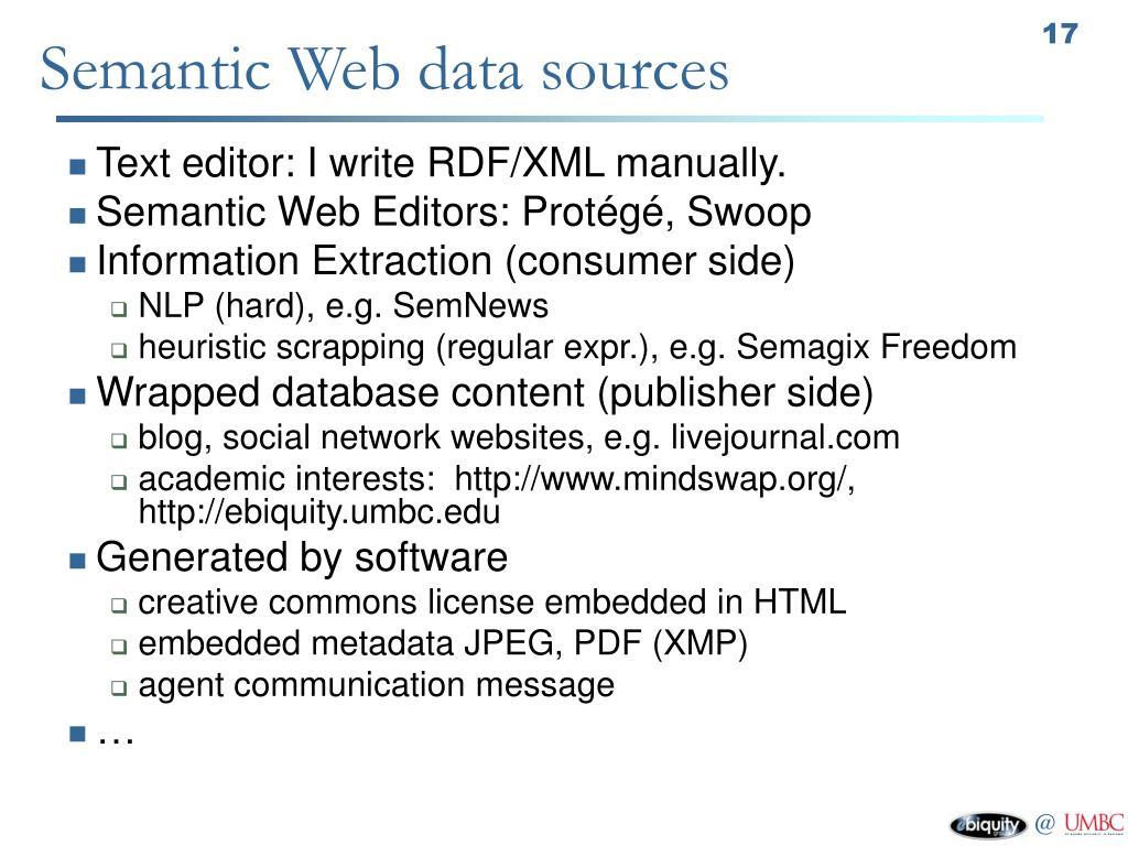 Semantic Web data sources