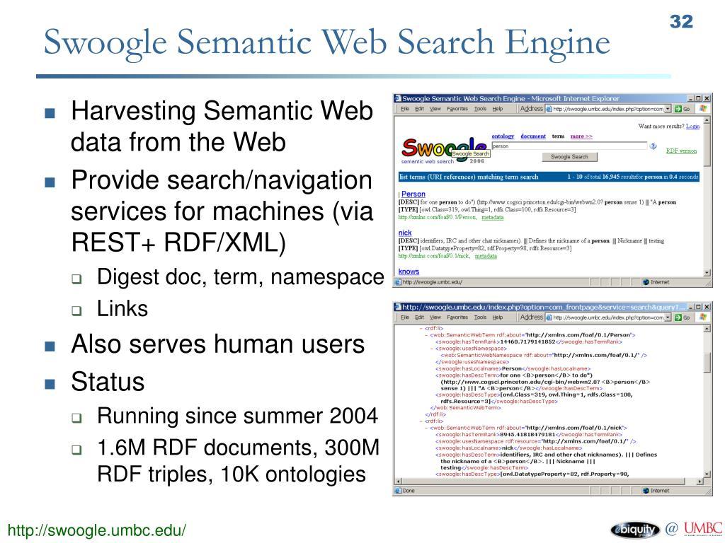 Swoogle Semantic Web Search Engine