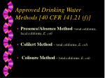 approved drinking water methods 40 cfr 141 21 f37