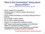 what is the commission doing about dioxins pops http ec europa eu environment dioxin index htm