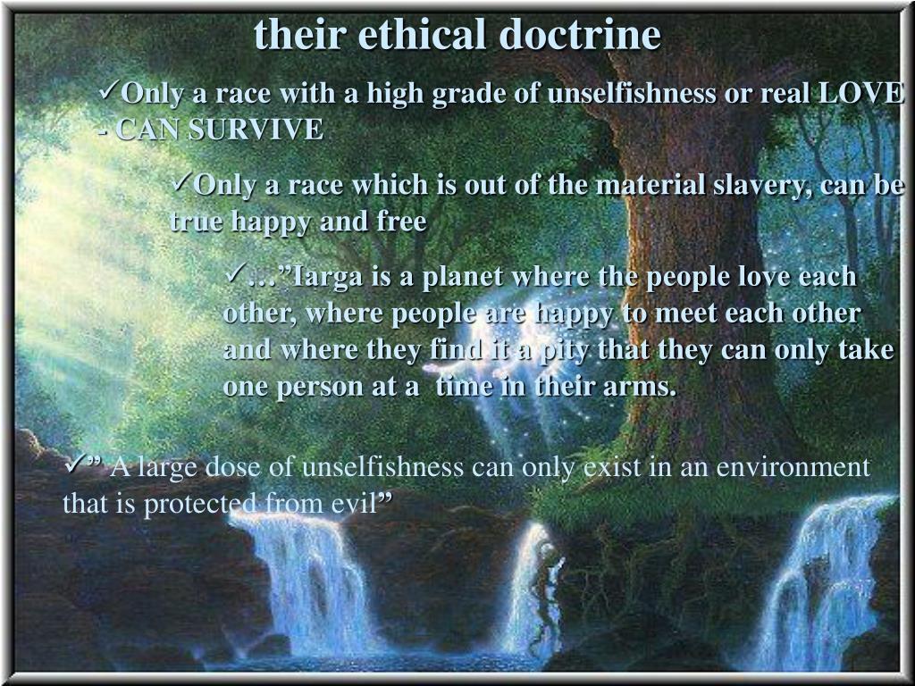 their ethical doctrine