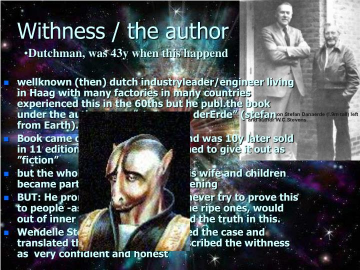 Withness the author