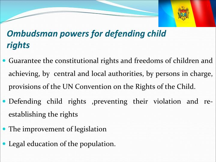 Ombudsman powers for defending child rights