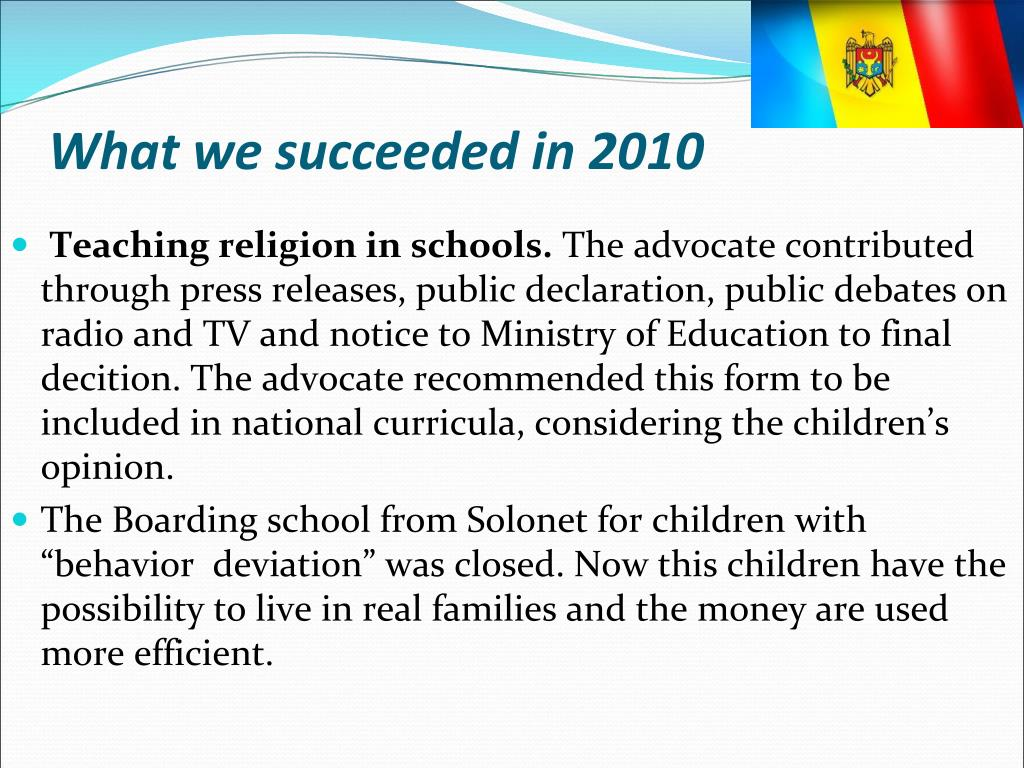 What we succeeded in 2010