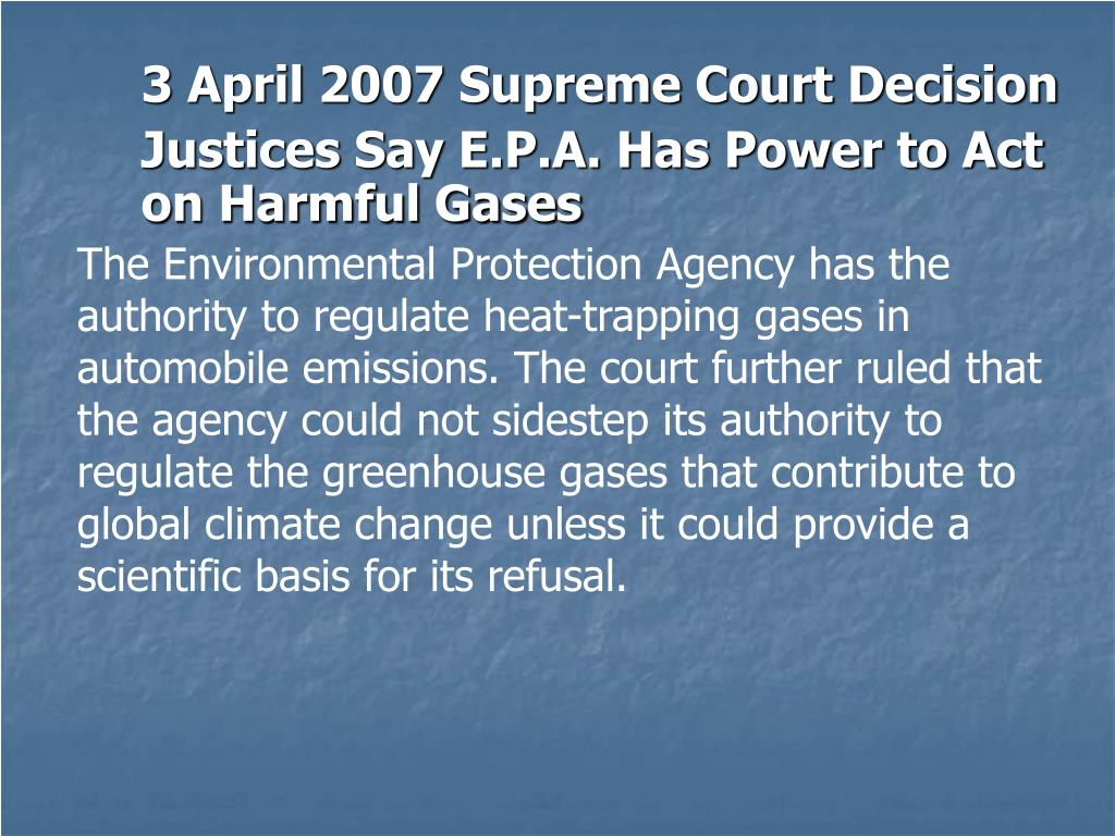3 April 2007 Supreme Court Decision