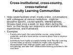 cross institutional cross country cross national faculty learning communities
