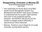 disappointing unwanted or missing 2 faculty development activities resources last 5 years