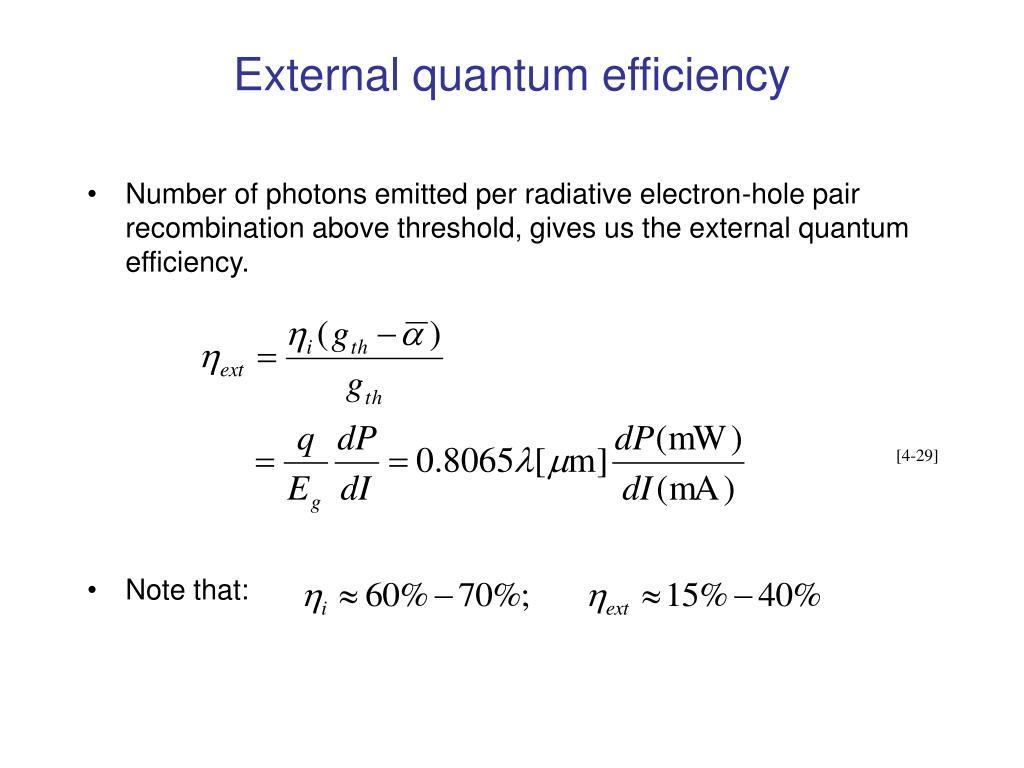 External quantum efficiency