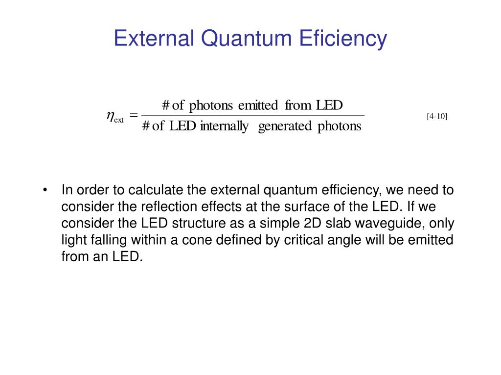 External Quantum Eficiency
