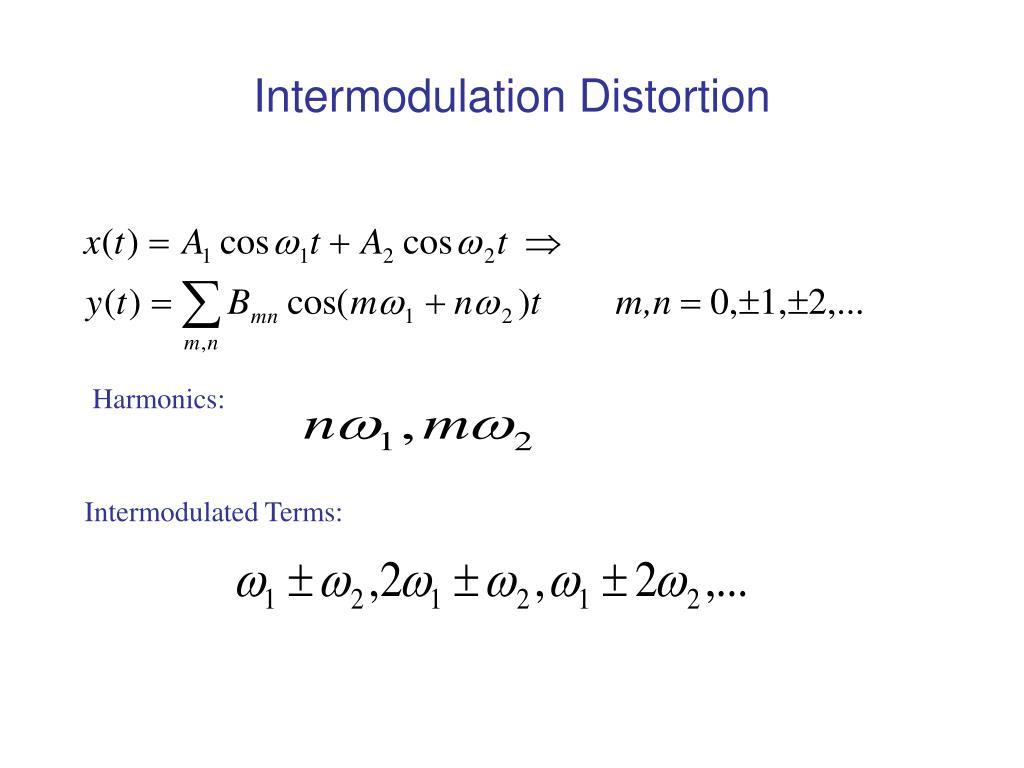 Intermodulation Distortion