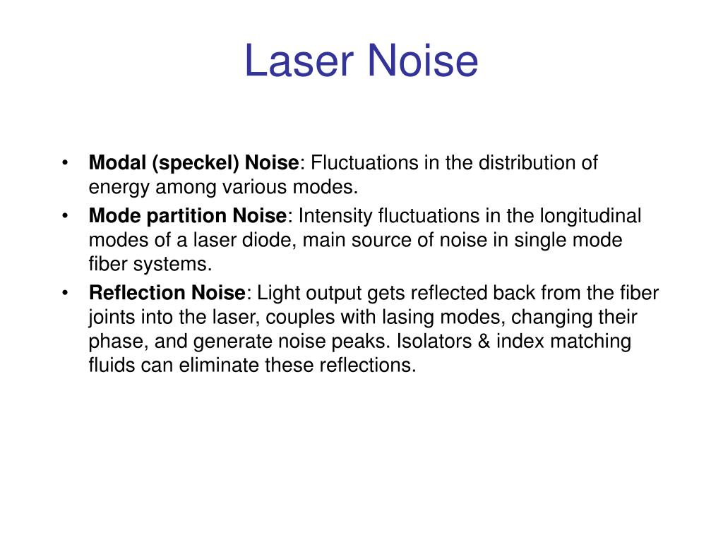 Laser Noise