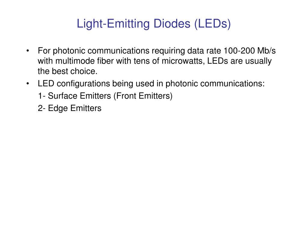 Light-Emitting Diodes (LEDs)