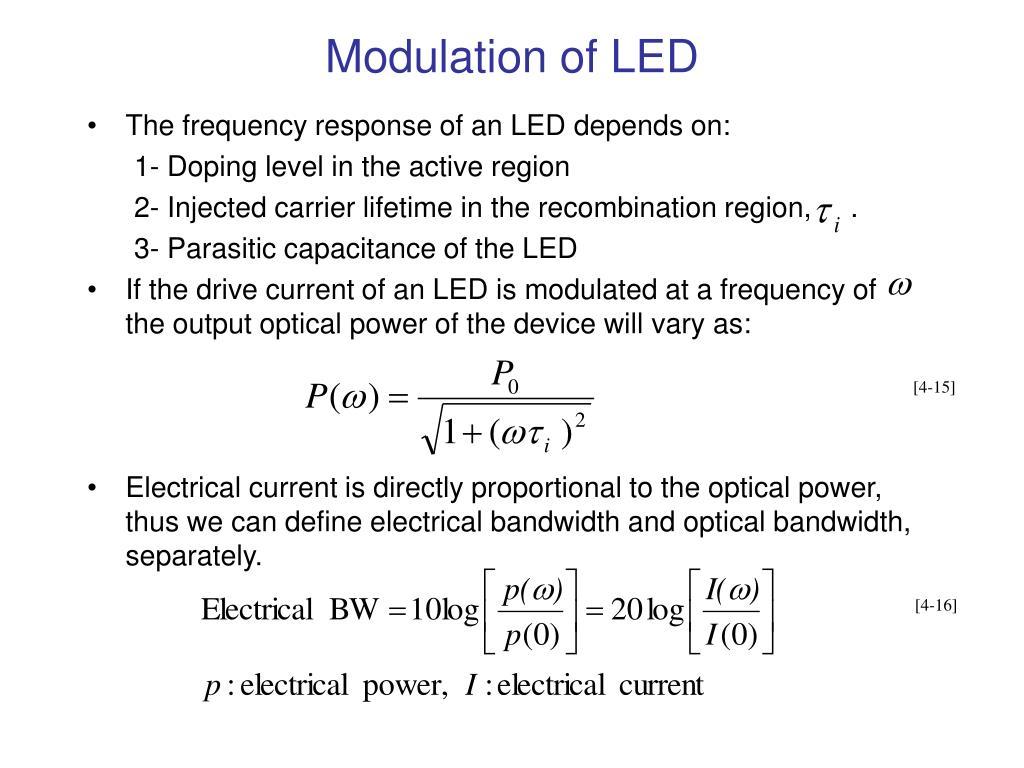 Modulation of LED