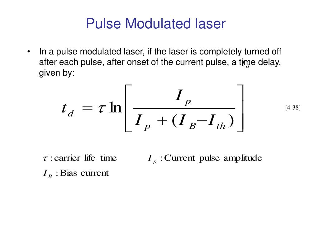Pulse Modulated laser