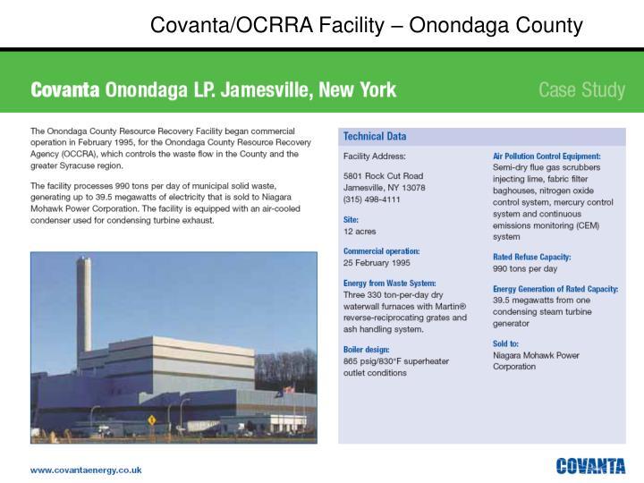 Covanta/OCRRA Facility – Onondaga County
