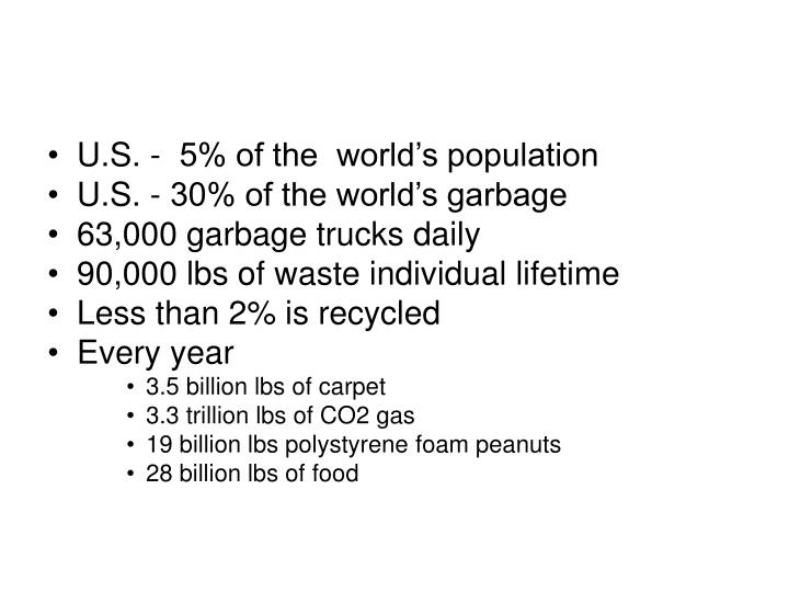 U.S. -  5% of the  world's population