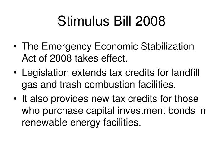 Stimulus Bill 2008