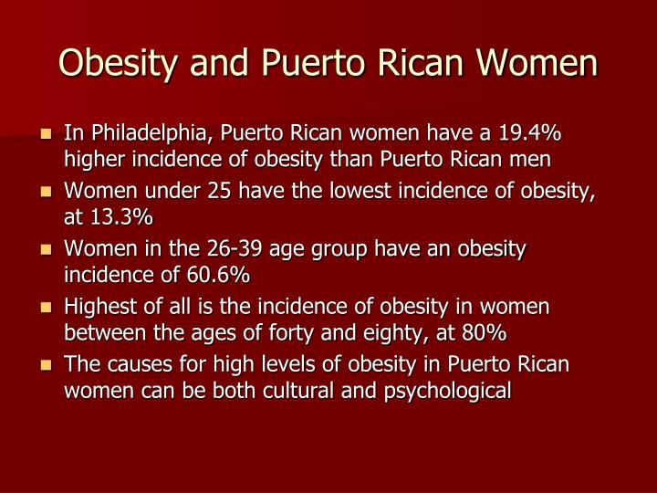 Obesity and puerto rican women