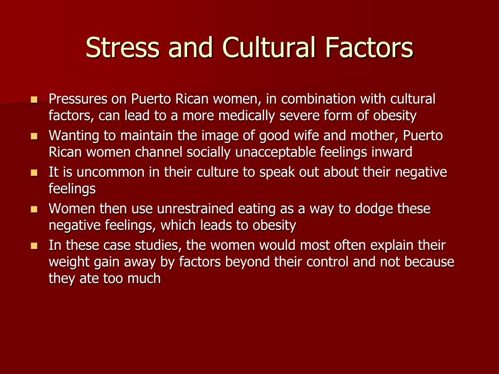 Stress and Cultural Factors