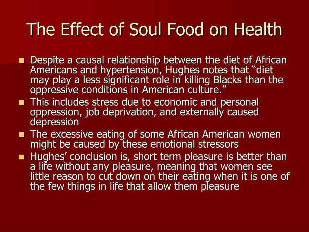 The Effect of Soul Food on Health
