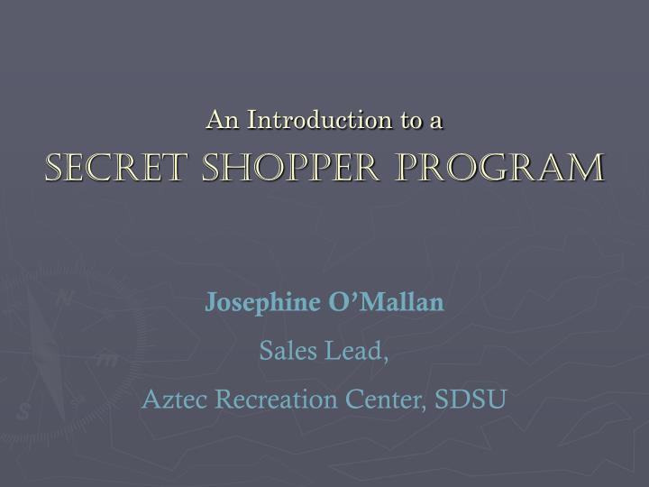 An introduction to a secret shopper program2