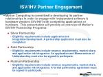 isv ihv partner engagement