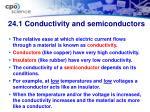 24 1 conductivity and semiconductors
