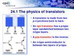 24 1 the physics of transistors