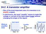 24 2 a transistor amplifier