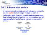 24 2 a transistor switch