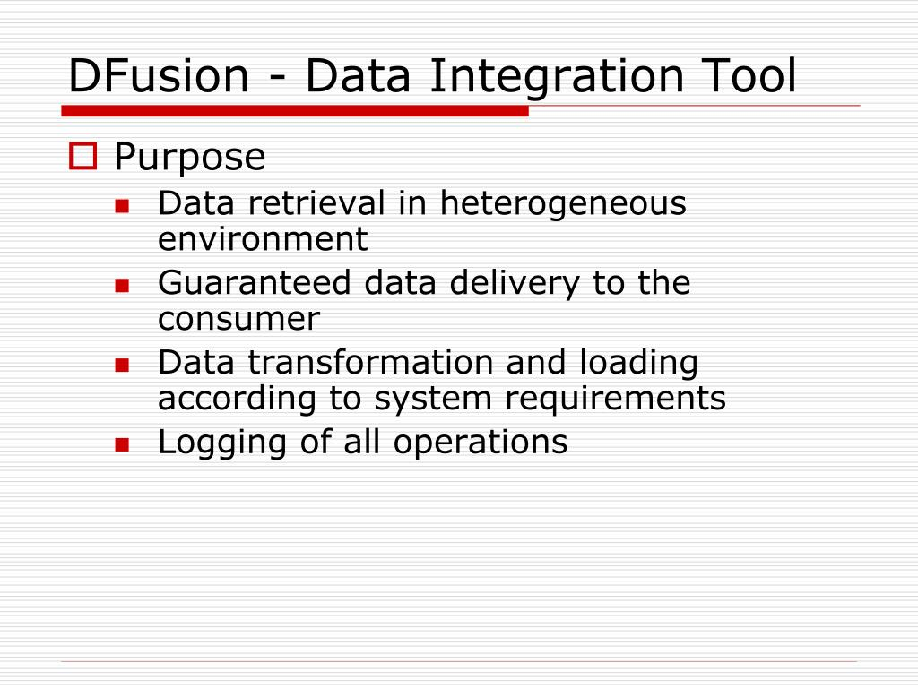DFusion - Data Integration Tool