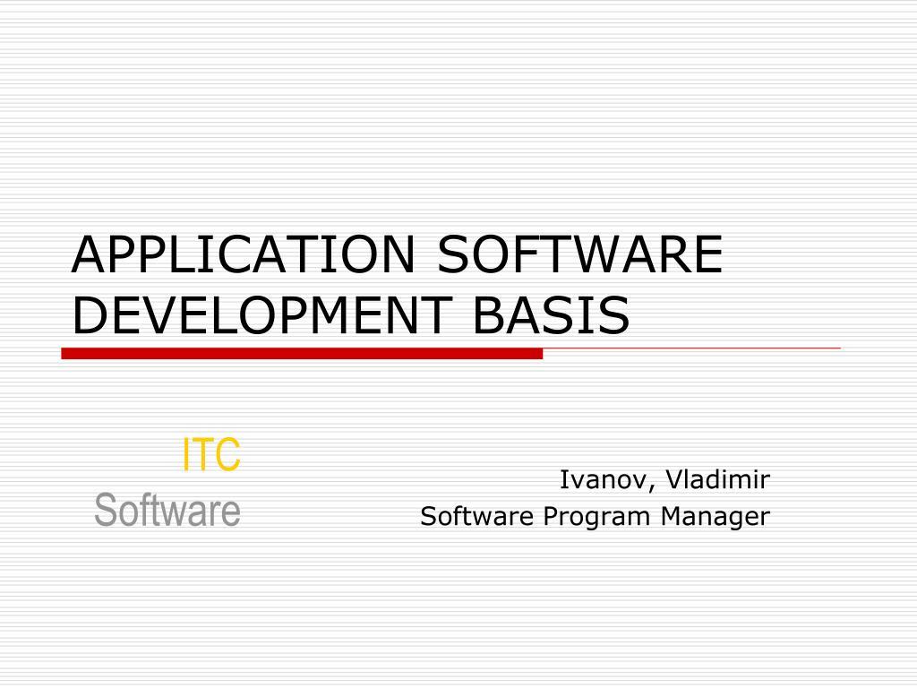 ivanov vladimir software program manager l.