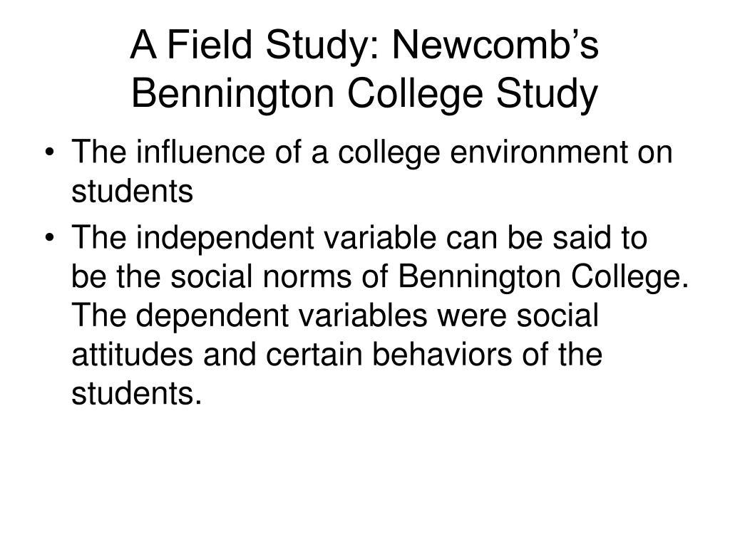 A Field Study: Newcomb's Bennington College Study