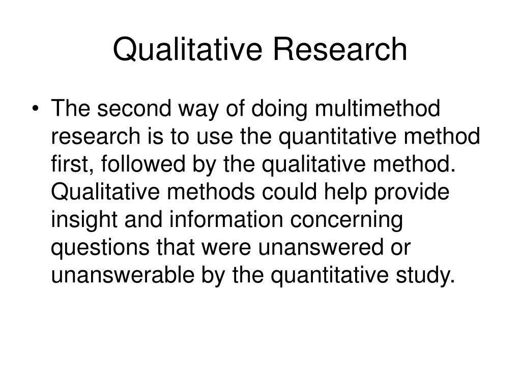 Qualitative Research