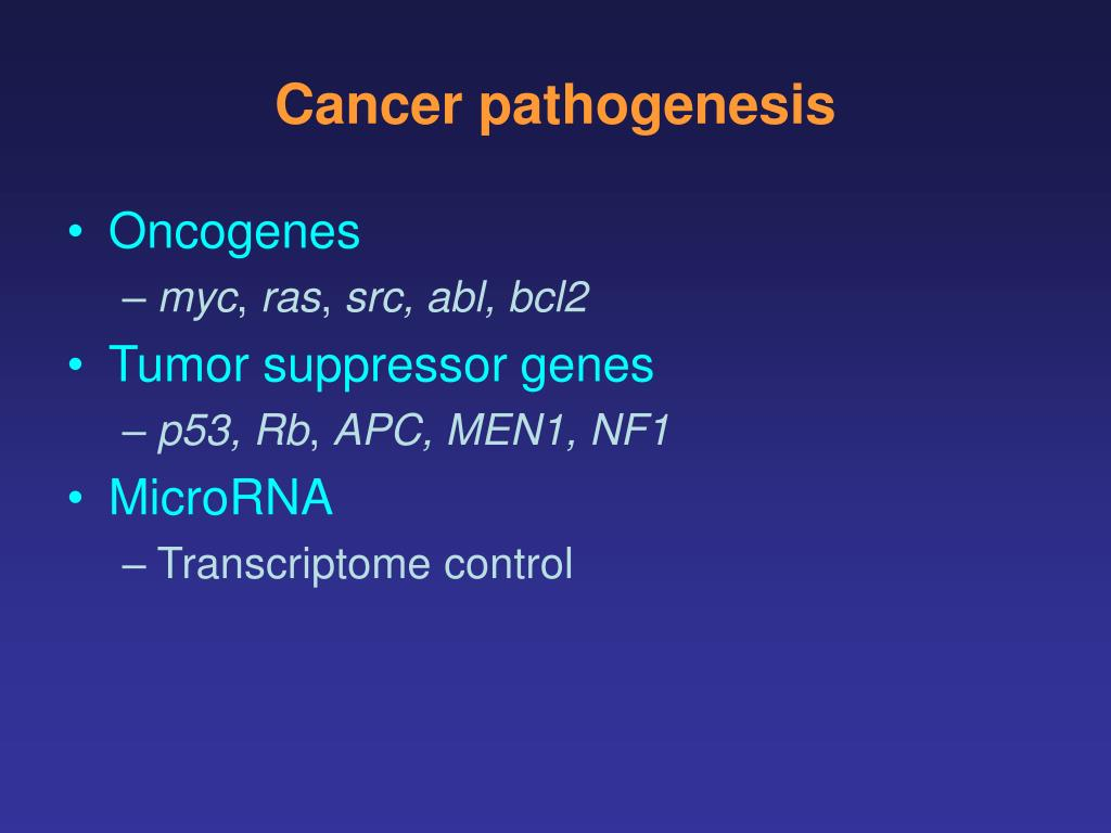 Cancer pathogenesis