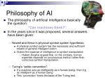 philosophy of ai
