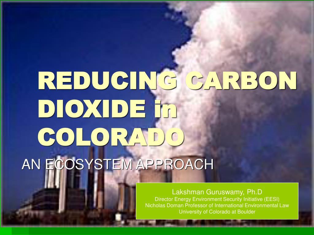 reducing carbon dioxide in colorado