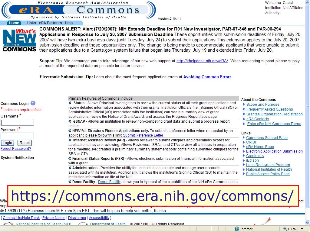 https://commons.era.nih.gov/commons/