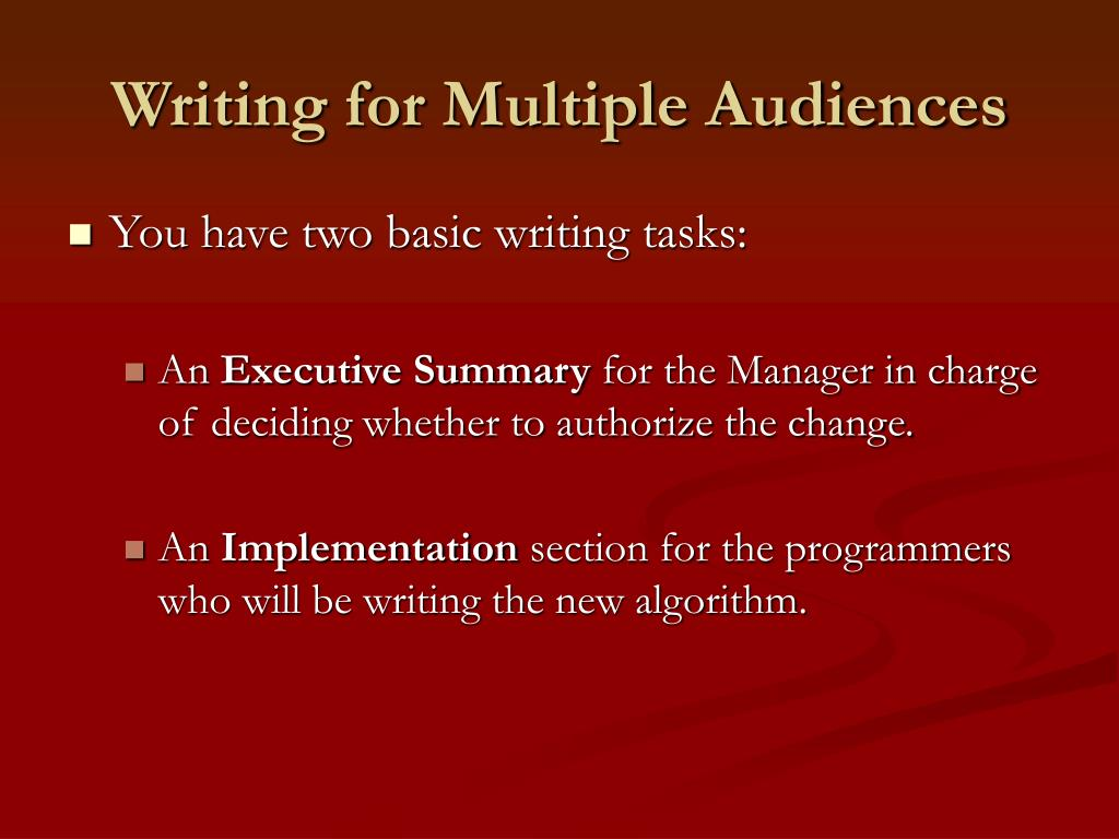 Writing for Multiple Audiences