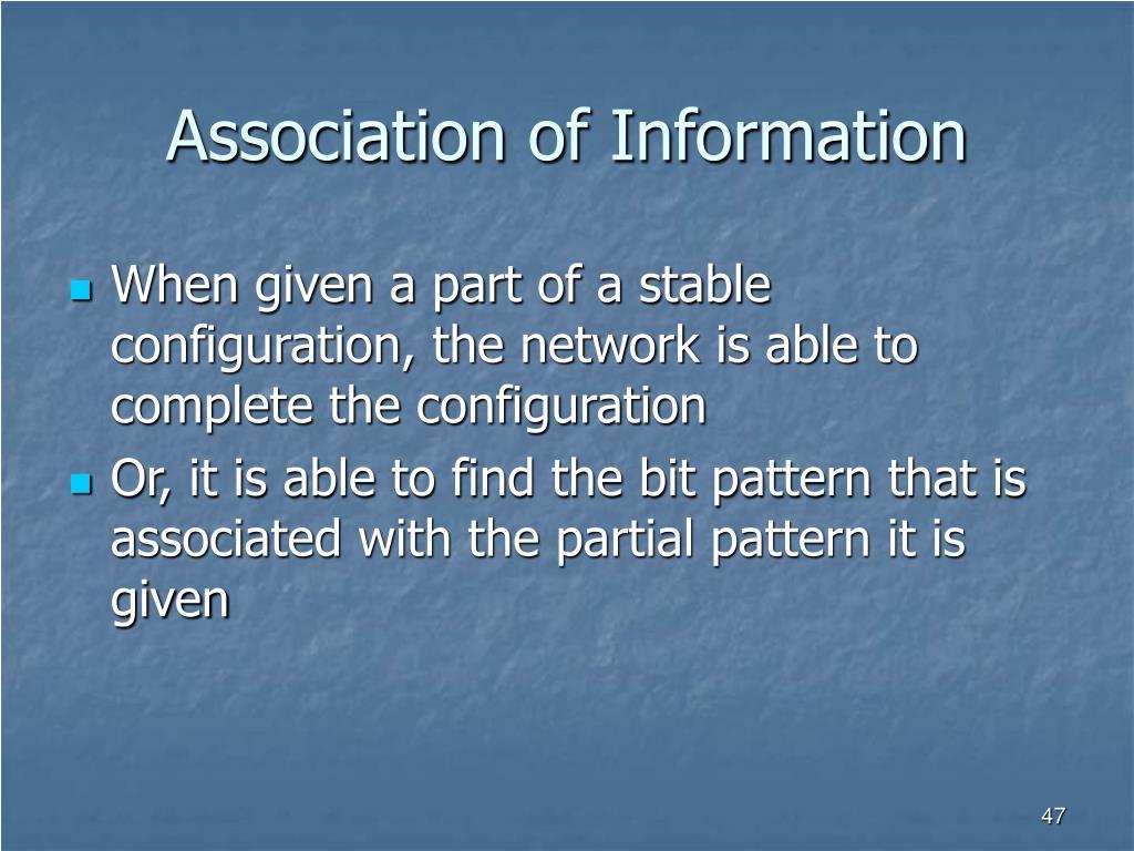 Association of Information