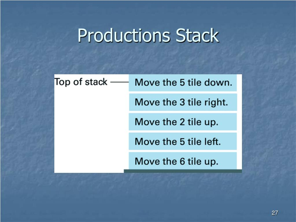 Productions Stack