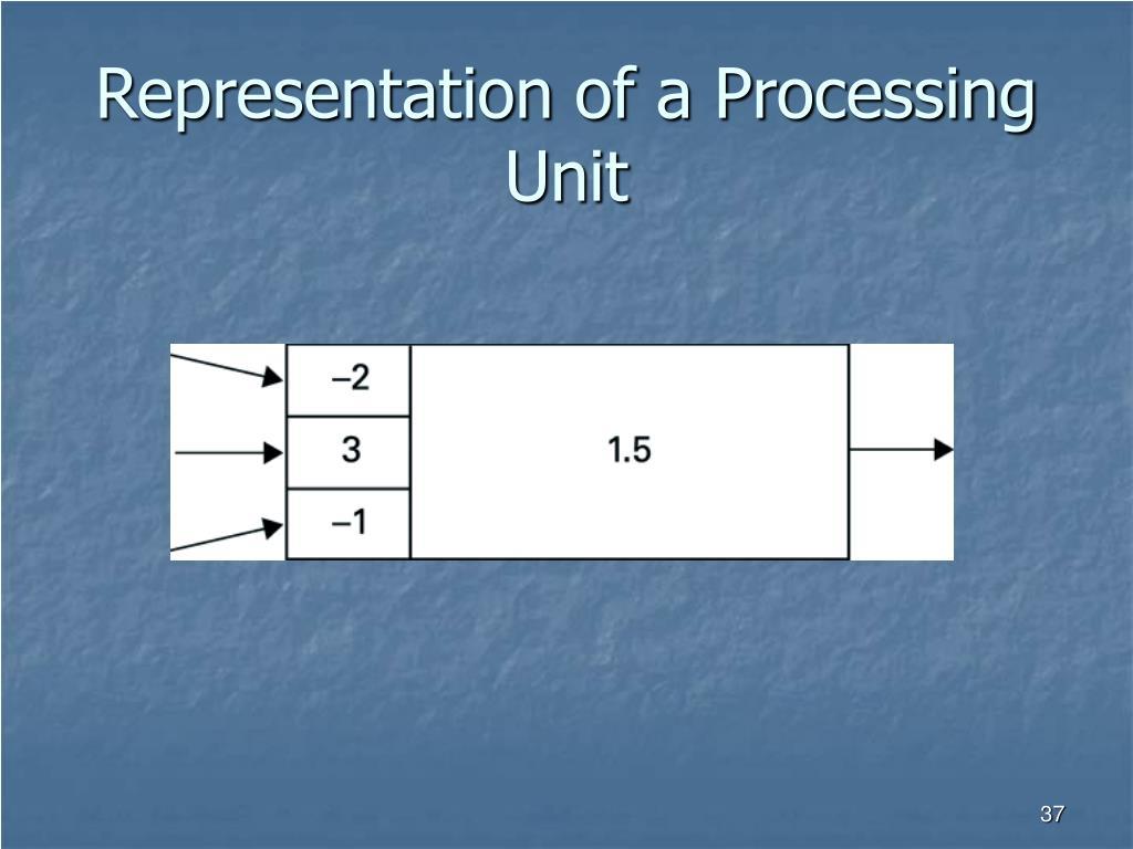 Representation of a Processing Unit