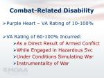 combat related disability